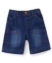 ToffyHouse Elasticated Denim Shorts With 6 Pockets - Blue