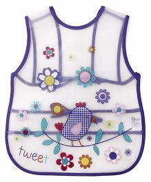 Alpaks Apron With Pocket Bird Print - Purple