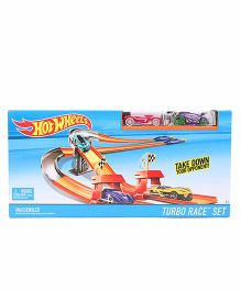Hot Wheels Turbo Race Track Set  - Pink Blue