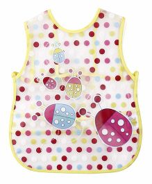 Alpaks Apron With Pocket Lade Bug Print - Yellow