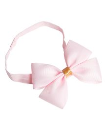 Keira's Pretties Solid Headband With Elegant Bow - Pink