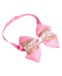 Keira's Pretties Shimmer Double Bow Headband - Pink