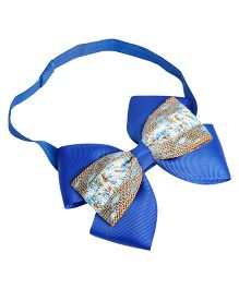 Keira's Pretties Shimmer Double Bow Headband - Blue
