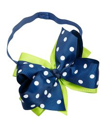 Keira's Pretties Double Bow Polka Dot Headband - Blue & Green