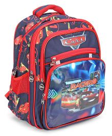 Disney Pixar Cars School Bag Navy Red - 15.35 inches