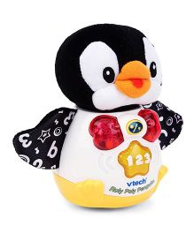 Vtech Roly Poly Musical Penguin Toy - White Black