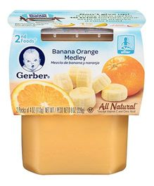 Gerber Banana Orange Medley 2nd Foods Pack Of 2 - 113 gm (each)