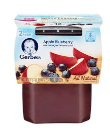 Gerber Apple Blueberry Pack Of 2 - 113 gm
