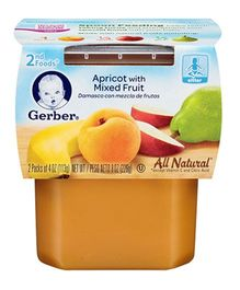 Gerber Apricot Mixed Fruit 2nd Foods Pack Of 2 - 113 gm (each)