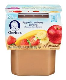 Gerber Apple Strawberry Banana 2nd Foods Pack Of 2 - 113 gm (each)