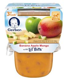 Gerber Banana Apple Mango 3rd Foods Pack Of 2 - 142 gm (each)
