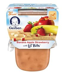 Gerber Banana Apple & Strawberry Pack Of 2 - 113 gm