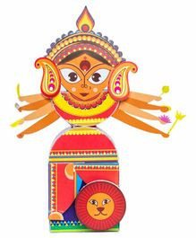 Toiing 3D Do It Yourself Paper Craft Durga - Multicolor