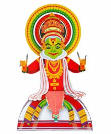 Toiing 3D Do It Yourself Paper Craft Kathakali - Multicolor