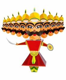 Toiing 3D Do It Yourself Paper Craft Raavan - Multicolor