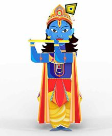 Toiing 3D Do It Yourself Paper Craft Krishna - Multicolor