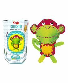 Toiing StichToi Monty The Monkey - Green & Pink
