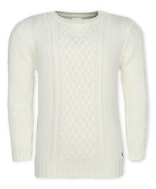 FS Mini Klub Full Sleeves Pullover Sweater - Off White
