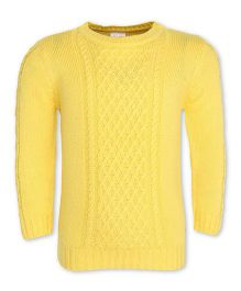 FS Mini Klub Full Sleeves Pullover Sweater - Yellow