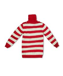 FS Mini Klub Full Sleeves Pullover Sweater Stripe Design - Red