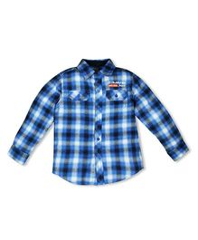 FS Mini Klub Long Sleeves Shirt Plaid Checks Print - Blue