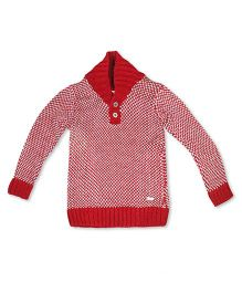 FS Mini Klub Full Sleeves Sweater - Red