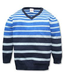 FS Mini Klub Full Sleeves Sweater Stripe Design -  Blue