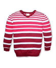 FS Mini Klub Full Sleeves Sweater Stripe Design -  Pink Red