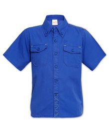 FS Mini Klub Half Sleeves Solid Colour Shirt - Royal Blue
