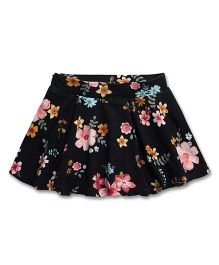 Fox Baby Skirt Floral Print - Black