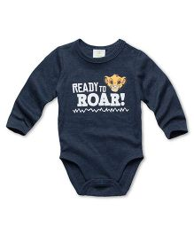 Fox Baby Full Sleeves Onesie Roar Print - Blue