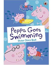 Peppa Goes Swimming Sticker Story Book - English