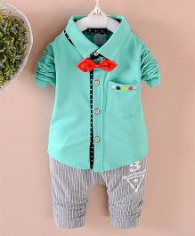 Pre Order - Awabox Shirt With A Bow & Pants - Green