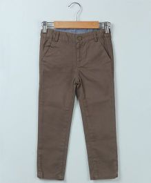 Beebay Full Length Twill Trouser - Khaki