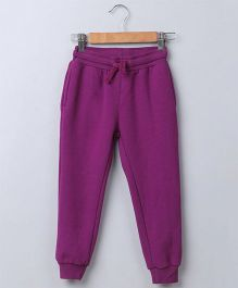 Beebay Full Length Solid Joggers - Purple