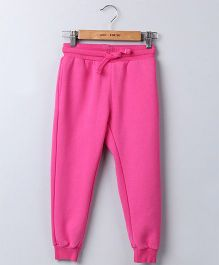 Beebay Full Length Solid Joggers - Pink