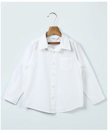 Beebay Full Sleeves Solid Shirt - White
