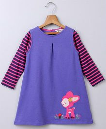 Beebay Full Sleeves Dress With Dear Patch - Purple