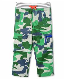 Cherry Crumble California Camouflage Ribbed Cargo Pant - Green