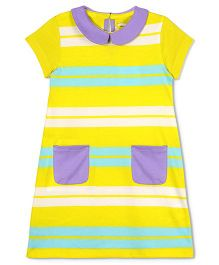 Cherry Crumble California Supersoft Stripe Dress - Yellow