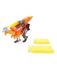 Turbos Transforming Dino Velociraptor Blaster Gun - Orange