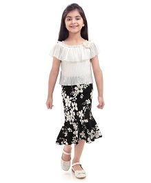 Tiny Baby Classic Skirt And Top Set - Black White