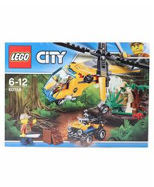 Lego City Jungle Cargo Helicopter Building Blocks Yellow - 201 Pieces