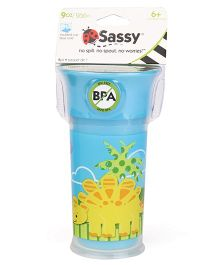 Sassy Insulated Cup Dino Print Blue - 266 ml