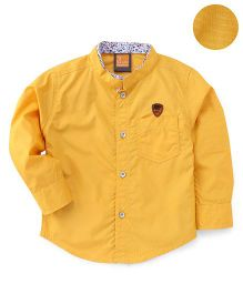 Little Kangaroos Full Sleeves Solid Shirt - Mustard Yellow