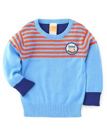 Little Kangaroos Full Sleeves Pullover Sweater - Sky Blue