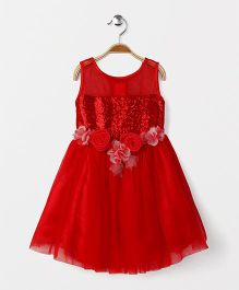 Katibi Party Wear Dress Floral Dress - Red