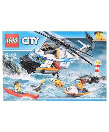 Lego City Heavy-duty Rescue Helicopter Building Set - 415 Pieces