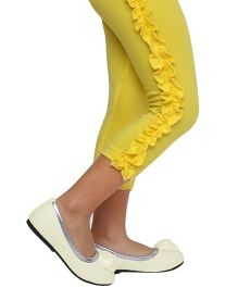 D'Chica Bohemian Chic Side Frill Leggings - Yellow