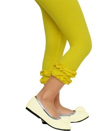 D'Chica Super Chic Bottom Frill Leggings - Yellow